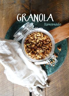 Homemade granola, easy to make and delicious! Diy Food, Granola, Homemade, Breakfast, Easy, Recipes, Crafts, Morning Coffee, Manualidades