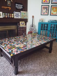 1,320 Bottle Cap Coffee Table - Imgur Come and see our new website at bakedcomfortfood.com!