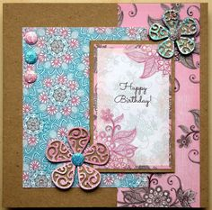 Using Scrumptious paper collection , Candi and Tattered lace flower dies
