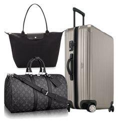 rimowa Salsa, Louis Vuitton Keepall Monogram Eclipse, Longchamp Le Pliage