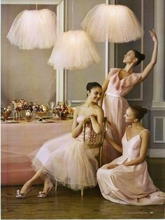 Hanging tutus are so cute.