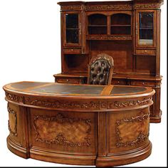 Every room benefits from adding antique pieces: what a stunning antique desk. Craftsmanship like no other.