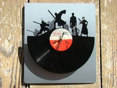 Re-purposed, recycled Vinyl Record - L.E.D. Star Wars quartz clock on Etsy, $75.00