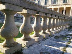 Sunshine through a balustrade