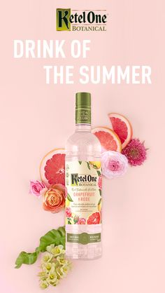 New Ketel One Botanical, infused with zesty grapefruit and elegant rose petals, has 40% fewer calories than a glass of white wine. And it's 100% delicious. Mix 1.5oz Ketel One Botanical Grapefruit and Rose with 3oz Soda Water. Serve in a wine glass with ice and your choice of fragrant herbs, crisp citrus or other fresh fruit.