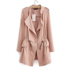 Outerwear Type:Trench Gender:Women Decoration:Pockets,Adjustable Waist Clothing Length:Long Pattern Type:Solid Brand Name:women Trench Style:Fashion Type:Slim Closure Type:Belt Material:Polyester Fabr