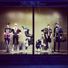 In movement at #saksfifthavenue via @thebellabrandy #saks #visualmerchandiser #merchandising #vm #storewindows #shopwindows #retaildisplay #vmd #vmlife #vmdaily
