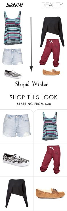 """""""Whishing"""" by holo16 ❤ liked on Polyvore featuring Topshop, Billabong, Vans, adidas, Crea Concept, UGG Australia, women's clothing, women's fashion, women and female"""