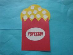 Popcorn - in Circus Crafts by Crafts For Kids Preschool Circus, Circus Activities, Summer Preschool Activities, Preschool Projects, Preschool Themes, Preschool Age, Class Activities, Circus Theme Crafts, Carnival Crafts