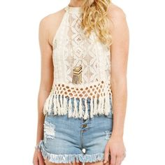 NWT COCO + JAIMESON Lace crop top Perfect for festivals and concerts. NWT Tops Crop Tops