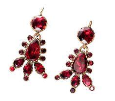 Georgian Brilliance: Almandine Garnet Drop Earrings - The Three Graces