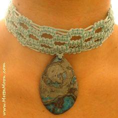 MettaMoon Jasper Twist Blue Choker. One-of-a-kind, hand-made jewelry!