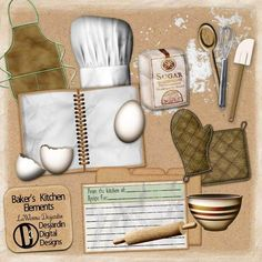 Baker's Kitchen Elements by LaWanna Desjardin