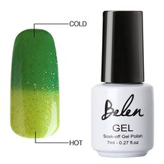 Belen 7ml Nail Polish Gel Temperature Change Color UV Polish Nail Tools Primer Professional Nail Art Colored Varnish Chameleonic
