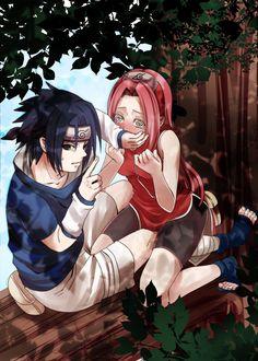 Sasuke e Sakura Sasuke Uchiha Sharingan, Naruto And Sasuke, Anime Naruto, Manga Anime, Sasuke Sakura Sarada, Naruto Fan Art, Naruto Comic, Naruto Cute, Naruto Shippuden Anime