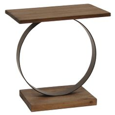 """Camden Ring Side Table Rustic Umber 