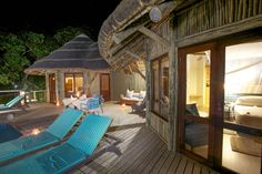 Nestled just a few meters from the waters edge, and a short drive away from South Africa's largest freshwater lake, Thonga Beach Lodge is an idyllic paradise th… Kwazulu Natal, Ice Climbing, Outdoor Furniture, Outdoor Decor, Rafting, Sun Lounger, Fresh Water, South Africa, Beach