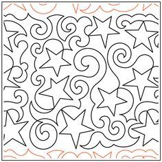 Paper Pantographs for longarm quilters. Featuring machine quilting supplies and notions Quilting Stencils, Longarm Quilting, Machine Quilting, Quilting Designs, Star Quilts, Quilt Blocks, Quilt Of Valor, All Paper, Star Designs
