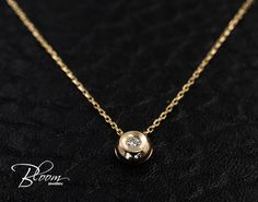 Bezel Diamond Necklace 18K Rose Gold Necklace Gold Diamond Necklace Real Diamond Pendant Bezel Diamond Pendant Classic Diamond Necklace by BloomDiamonds on Etsy https://www.etsy.com/listing/270901819/bezel-diamond-necklace-18k-rose-gold