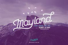 Mayland Font Duo by Newface on @creativemarket