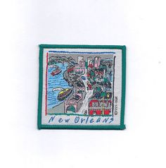 """Vintage New Orleans Mississippi River by CollectorTrends on Etsy 3 x 3"""" $15"""