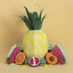 Fresh Drinks: Tropical Paper Craft Ingredients by Rendi Studio