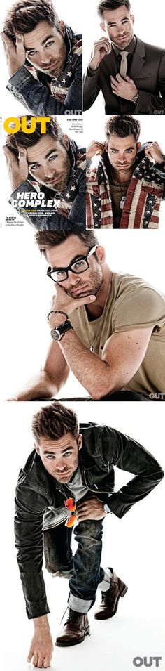 Captain Kirk, I mean, Chris Pine photo shoot