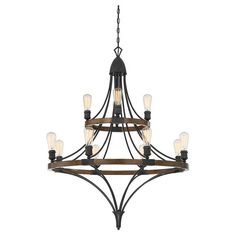 Savoy House Turing 1-9112-12-68 Chandelier - 1-9112-12-68