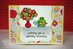 Lawn Fawn   On the Mend   Get Well Soon Card For more information visit: handmadebytahlia.com