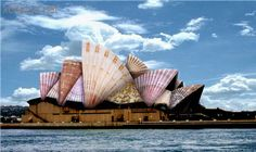 Edible Architecture - The Sydney Opera House Photomontage, Opera House, Artworks, Collage, Spaces, Architecture, Logos, Hats, Building