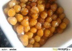 Pražená cizrna - lepší jak oříšky recept - TopRecepty.cz Salty Snacks, Christmas Cookies, Beans, Food And Drink, Vegetarian, Sweets, Baking, Vegetables, Fruit