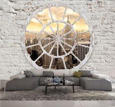 PAPIER PEINT 3D TROMPE L OEIL NEW YORK # PHOTO MURALE 3D IMITATION BRIQUE | Bricolage, Papier peint: outils, access., Autres | eBay!