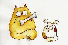 Прикольные рисунки котов (15 фото)