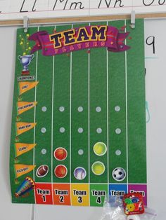 Something like this, but hockey, for my classroom to do discipline between the classes.