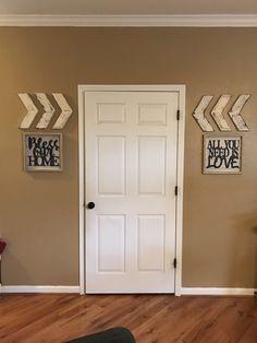 distressed white chevrons wall art. Wall Arrows. Arrow decor