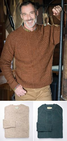 5b7481668 Aran Cable Knit Jumper - 100% wool to keep you cosy