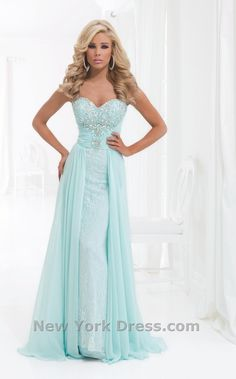 Lace Gown with Over Skirt Tony Bowls Le Gala (This dress is pinned 28,640 times so far)