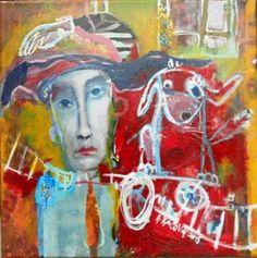 """Saatchi Art Artist RENATA KACOVA; Painting, """"FRIENDS"""" #art Saatchi Art, Original Paintings, Canvas, Painting Art, Friends, Artwork, Artist, Tela, Amigos"""