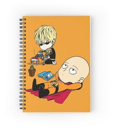 """""""One-Punch Man"""" Spiral Notebooks by BakaBanana   Redbubble"""