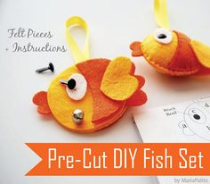 This set is perfect to learn how to make a plush toy using felt. I has the pre-cut pieces + instructions !!! love it
