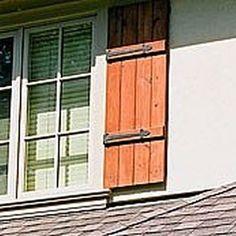 Board and batten cedar shutters homeandgarden.com