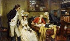 George Sheridan Knowles Signing the marriage contract 1905