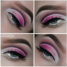Todays look made with the @morphebrushes #35B palette. Pink version of the green look I made a week ago.. got alot of sweet comments so decided to make another one in pink