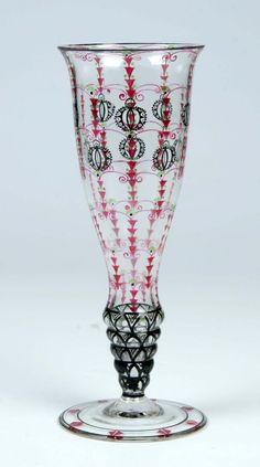 Vase Fachschule Haida Glass Art Deco Nouveau