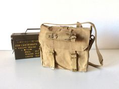 A personal favourite from my Etsy shop https://www.etsy.com/listing/587062045/vintage-military-messenger-bag-original