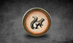 Squirrel Handmade Vintage Bronze Dresser knobs by jade4wood