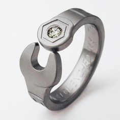 Ring More Wrench Ring Titanium Wedding Bands Unique Wedding Rings