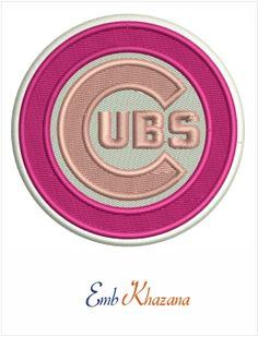 Cubs Logo embroidery design