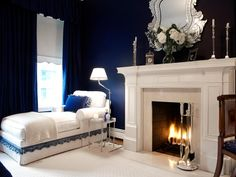 HGTV shows you how to use navy blue to add drama and elegance to your bedroom. If you love navy, don't shy away from choosing it for a bedroom space.