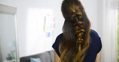 """Un super tuto pour réaliser soi-même un """"half braid""""."""